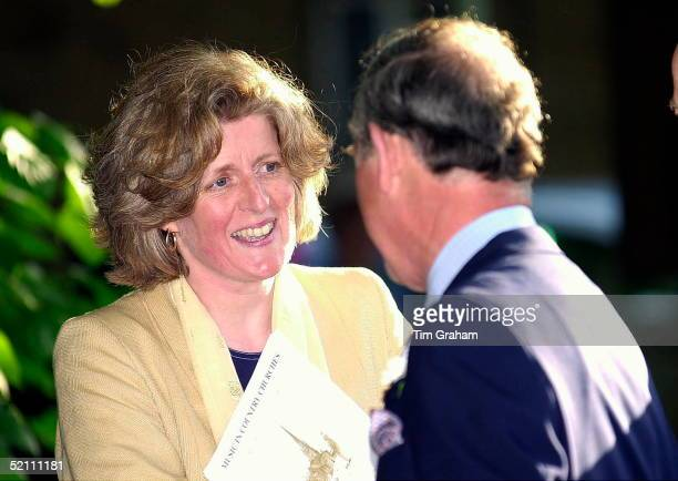Prince Charles In Bloxham In Oxfordshire To Attend A Concert In The Music In Country Churches Series Meeting Lady Jane Fellowes The Sister Of His...