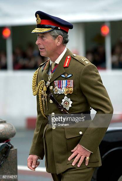 Prince Charles In Military Uniform As Lieutenant General Of The Army At A Service Of Remembrance For The Iraq War