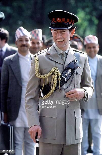 Prince Charles In Nepal Wearing Gurkha Uniform
