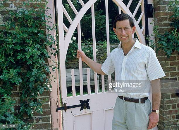 Prince Charles In The Garden Of His Home Highgrove House In Gloucestershire