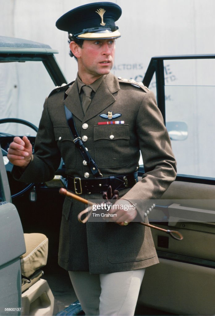Charles Cheshire Regiment Uniform : News Photo