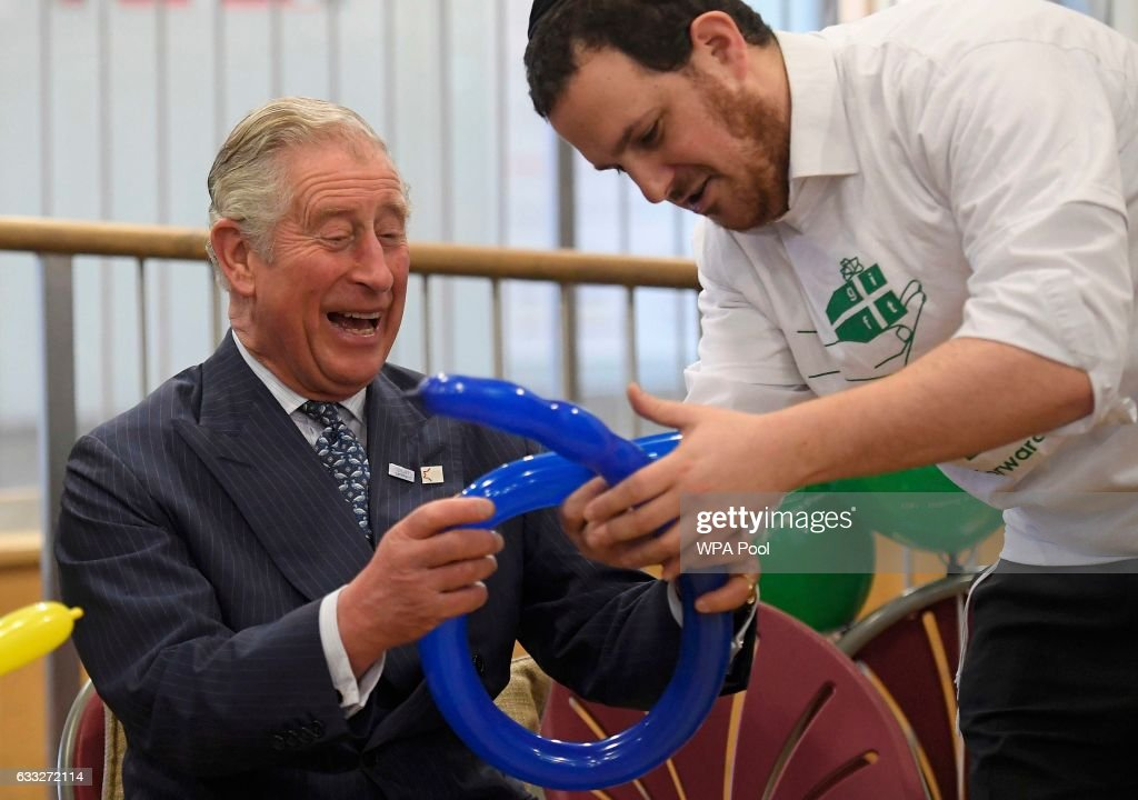 Prince Charles Visits Yavneh College : News Photo