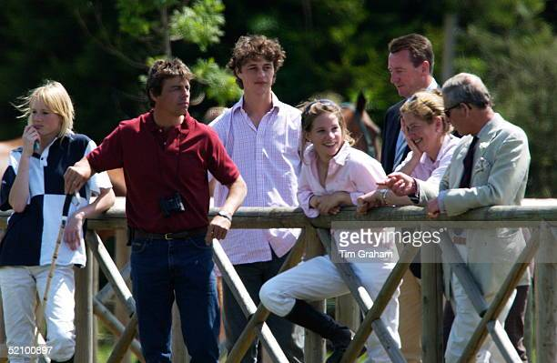 Prince Charles Joined By Tiggy Petifer Formerly LeggeBourke Prince Harry's Nanny To Watch Him Captain England Schools Polo Team At The Stoneythorpe...