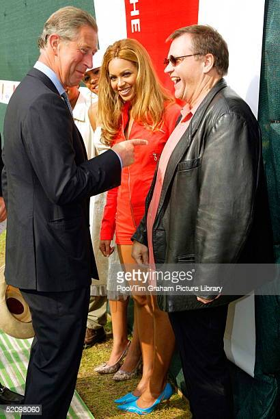 Prince Charles Joking With Rock Singer Meat Loaf And Singer Beyonce As He Meets The Stars Performing At The Annual Capital Radio Party In The Park A...
