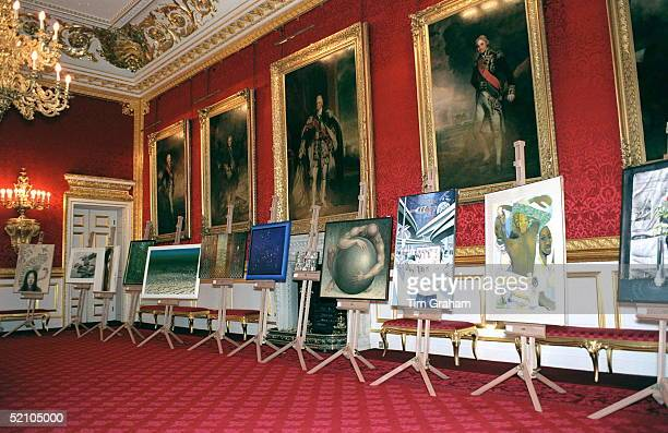 Prince Charles Judges The World's Largest Art Competition For The Worldwide Millenium Painting Exhibition At St James's Palace
