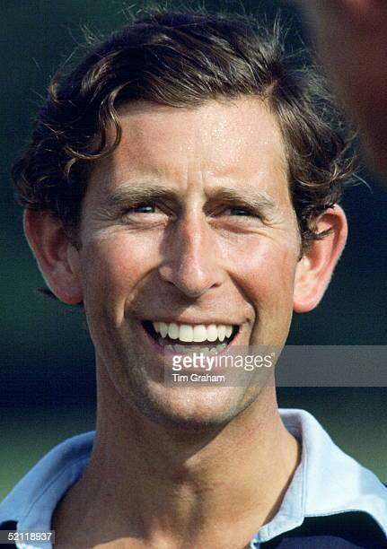 Prince Charles Laughing After Playing Polo For The Les Diables Bleus Team At Windsor