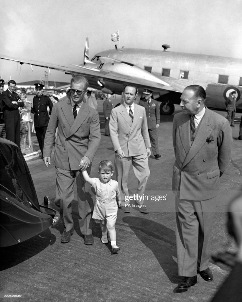 Royalty Prince Charles And The Duke Of Edinburgh Heathrow