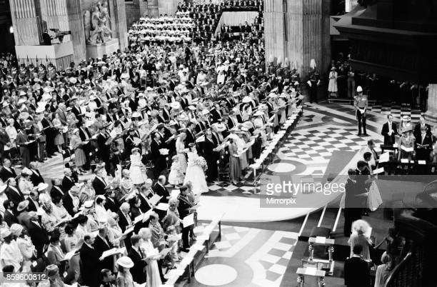 Prince Charles marries Lady Diana Spencer Picture shows the wedding ceremony at St Paul's Cathedral Featured well in this picture is the wide view...