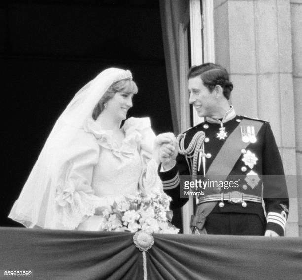 Prince Charles marries Lady Diana Spencer Picture taken of the happy couple on the balcony at Buckingham Palace after the wedding ceremony Picture...