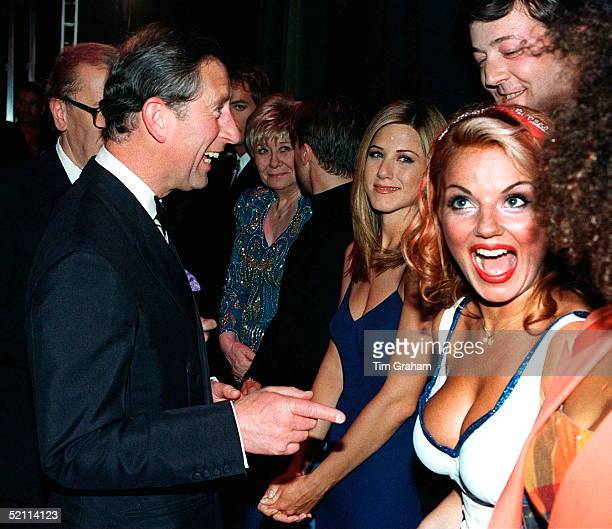 Prince Charles Meeting Geri Halliwell Stephen Fry And Jeniffer Aniston