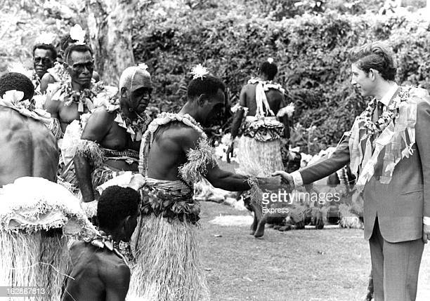 Prince Charles meeting local chiefs at Levuka on the island of Ovalau