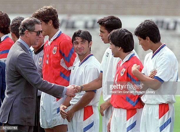 Prince Charles Meeting Members Of The Uruguay Football Team Uruguay
