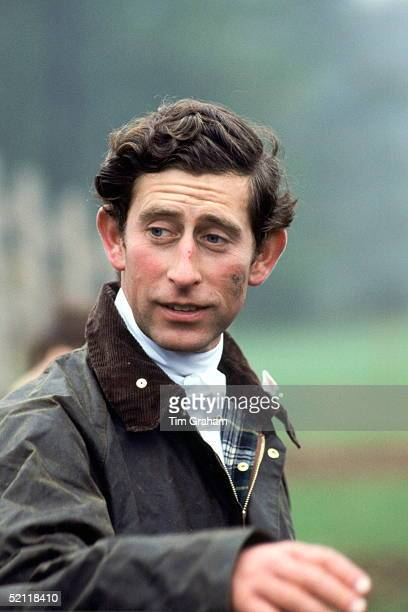 Prince Charles Mud-spattered And With A Muddy Face After Competing In A Team Chase Cross-country Event