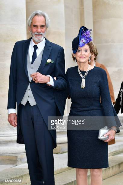 Prince Charles Napoleon and Countess MarieBeatrice von ArcoZinneberg attend the Wedding of Prince JeanChristophe Napoleon and Olympia Von...