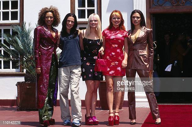Prince Charles Nelson Mandela and Spice Girls in Charles' visit in Johannesburg Southe Africa in November 1997