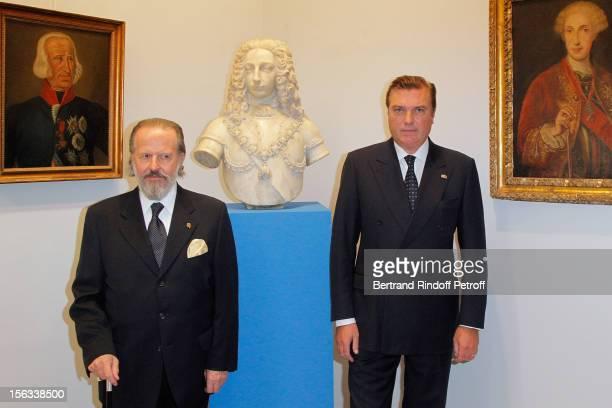 Prince Charles of BourbonTwo Sicilies and italian financier ambassador Antonio Benedetto Spada attend the Royal House of BourbonTwo Sicilies...