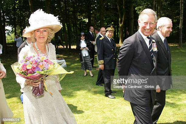 Prince Charles of England with his wife HRH Camilla Duchess of Cornwall at the Thiepval Cemetery.