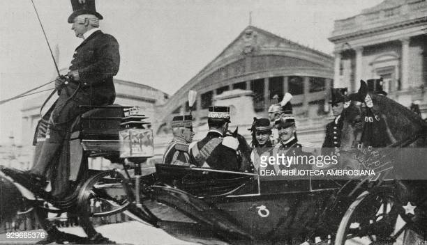 Prince Charles of Romania with Vittorio Emanuele III in Rome Italy from L'Illustrazione Italiana Year XL No 20 May 18 1913