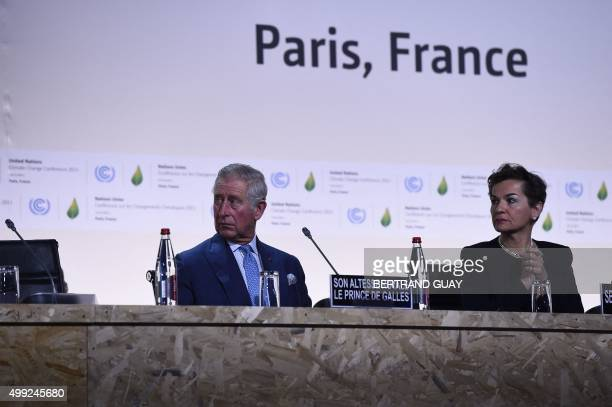 Prince Charles of Wales and Executive Secretary of the UN Framework Convention on Climate Change Christiana Figueres attend the opening of the 21st...
