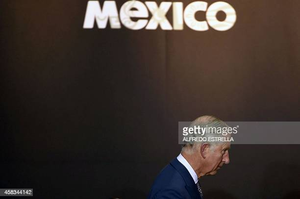 Prince Charles of Wales walks to deliver a speech at the National Palace during a meeting with Mexican President Enrique Pena Nieto in Mexico City on...
