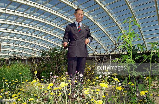 Prince Charles Officially Opening The Great Glass House In The Botanic Garden Of Wales, Llanarthne, South Wales.
