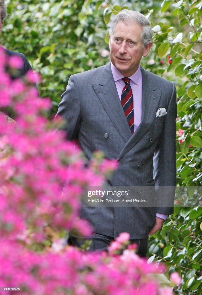 Prince Charles on a visit to Bodnant Gardens in the Conwy Valley on April 25th in Bodnant, Wales.