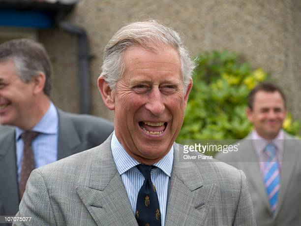 Prince Charles on his visit to the Isles of Scilly in 2009. Photo taken outside Tresco Estate Office.