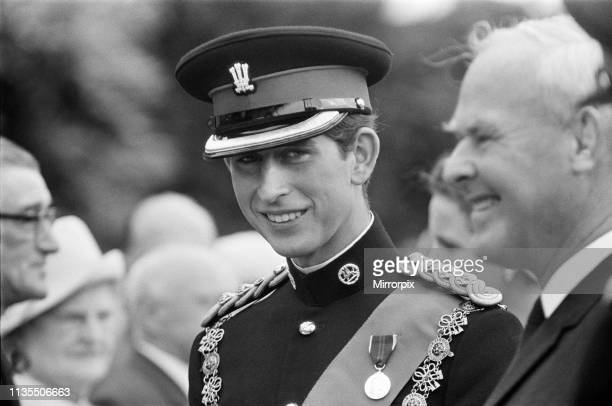 Prince Charles on his way to the ceremony of his Investiture as Prince of Wales at Caernarfon Castle, Gwynedd, Wales, 1st July 1969,