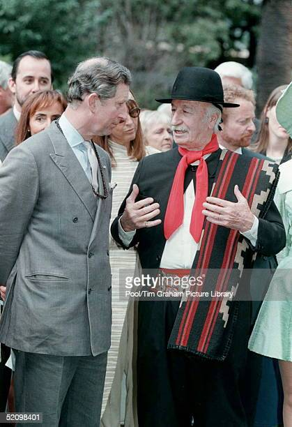 Prince Charles On The Last Day Of His Visit To Argentina Meets A 'gaucho' At A Garden Party At The British Residence
