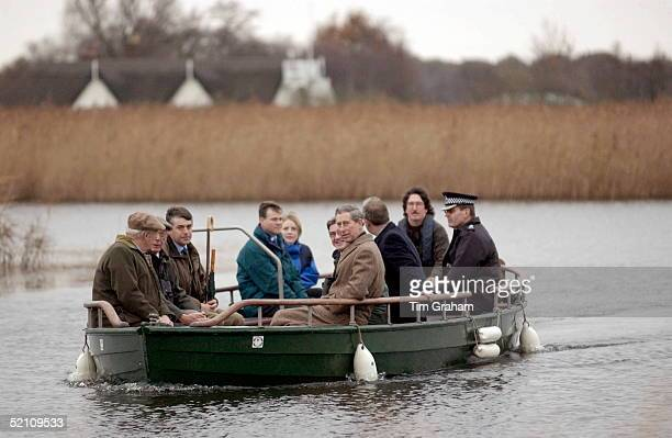 Prince Charles Patron Of The Wildlife Trusts Visiting The Norfolk Wildlife Trust Hickling Broad Norfolk Travelling In A Traditional Reed Lighter...