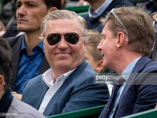 Prince Charles Philippe of Bourbon of two siciles attend the Rolex MonteCarlo Masters at MonteCarlo Country Club on April 21 2019 in MonteCarlo Monaco