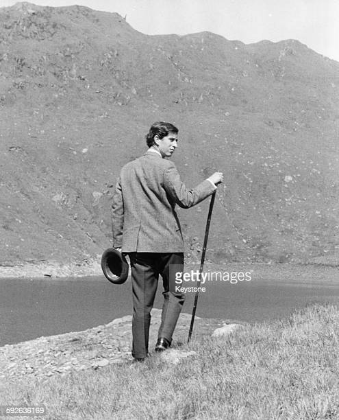 Prince Charles pictured walking in the countryside in Snowdon, Wales, June 6th 1969.