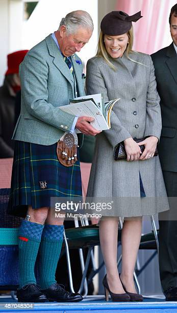 Prince Charles Prince of Wales and Autumn Phillips attend the Braemar Gathering at The Princess Royal and Duke of Fife Memorial Park on September 5...