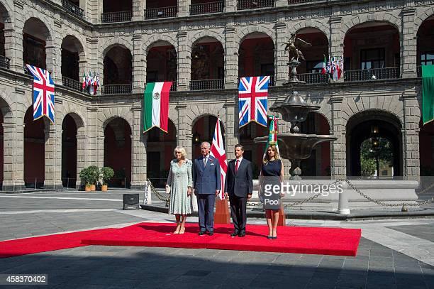 Prince Charles Prince of Wales and Camilla Duchess of Cornwall receive an official welcome from President Enrique Pena Nieto and the First Lady...