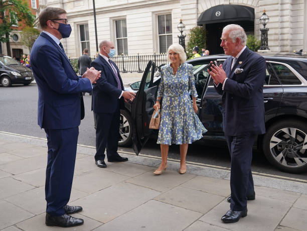 GBR: The Prince Of Wales And The Duchess Of Cornwall Visit The Royal Opera House