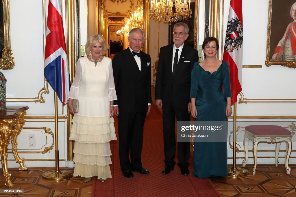 The Prince Of Wales And Duchess Of Cornwall Visit Austria - Day 1 : News Photo