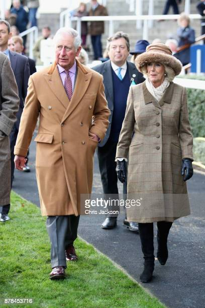 Prince Charles Prince of Wales and Camilla Duchess of Cornwall are seen at the Prince's Countryside Fund Raceday as they depart Ascot Racecourse on...