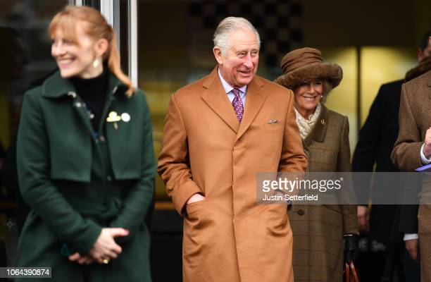 Prince Charles Prince of Wales and Camilla Duchess of Cornwall arrive at Ascot Racecourse on November 23 2018 in Ascot England