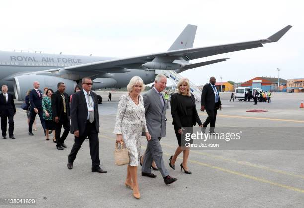 Prince Charles Prince Of Wales and Camilla Duchess of Cornwall arrive in Cuba on March 24 2019 in Havana Cuba