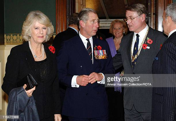 Prince Charles Prince of Wales and Camilla Duchess of Cornwall arrive for the Royal British Legion's Festival of Remembrance at the Royal Albert Hall...