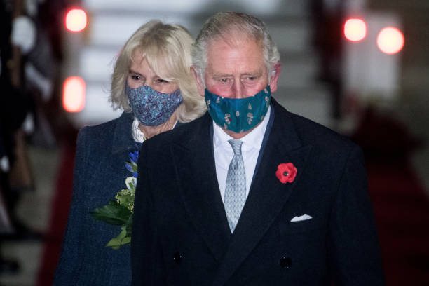 DEU: Prince Charles And Camilla Arrive In Berlin To Attend National Mourning Day Events