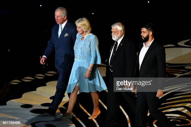 Prince Charles Prince of Wales and Camilla Duchess of Cornwall arrive for the Opening Ceremony for the Gold Coast 2018 Commonwealth Games at Carrara...
