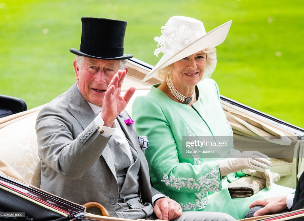 Prince Charles, Prince of Wales and Camilla, Duchess of Cornwall arrive by carriage during Royal Ascot Day 2 at Ascot Racecourse on June 20, 2018 in Ascot, United Kingdom.