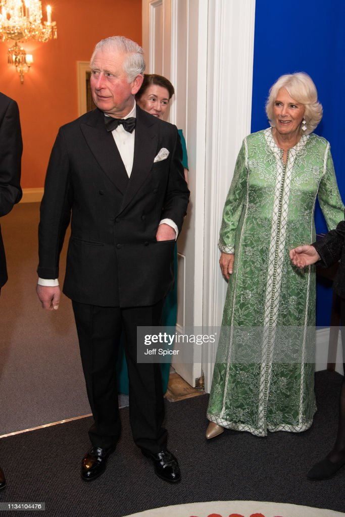 The Prince Of Wales & Duchess Of Cornwall Attend A Dinner To Mark St Patrick's Day : News Photo