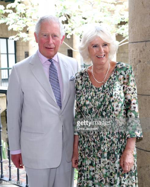 Prince Charles, Prince of Wales and Camilla, Duchess of Cornwall attend a reception at the Palacio de los Capitanes Generales on March 27, 2019 in...