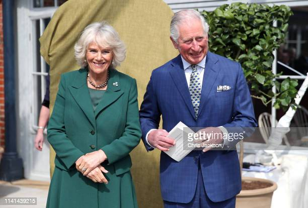 Prince Charles Prince of Wales and Camilla Duchess of Cornwall attend the reopening of Hillsborough Castle on April 09 2019 in Belfast Northern...