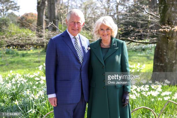 Prince Charles, Prince of Wales and Camilla, Duchess of Cornwall attend the reopening of Hillsborough Castle on April 09, 2019 in Belfast, Northern...