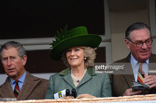 Prince Charles, Prince of Wales and Camilla, Duchess of Cornwall attend Gold Cup Day at Cheltenham Races on March 17, 2006.