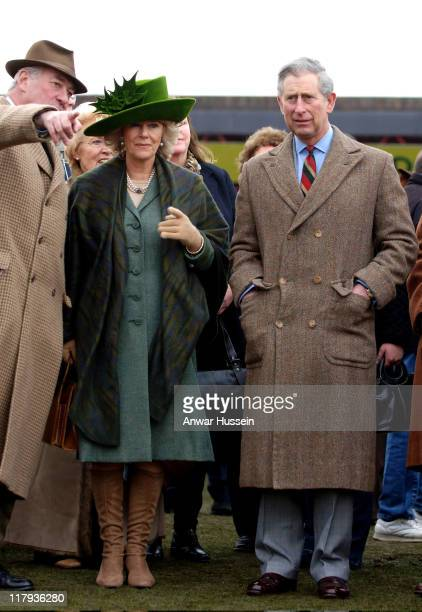 Prince Charles Prince of Wales and Camilla Duchess of Cornwall attend Gold Cup Day at Cheltenham Races on March 17 2006