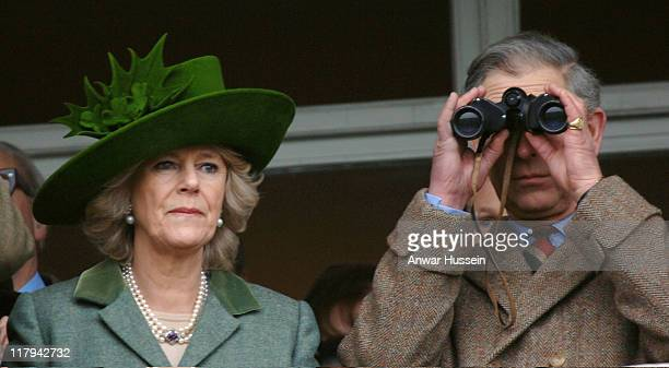 Prince Charles, Prince of Wales and Camilla, Duchess of Cornwall attend Gold Cup Day at Cheltenham Races on March 17, 2006. Photo: Anwar Hussein